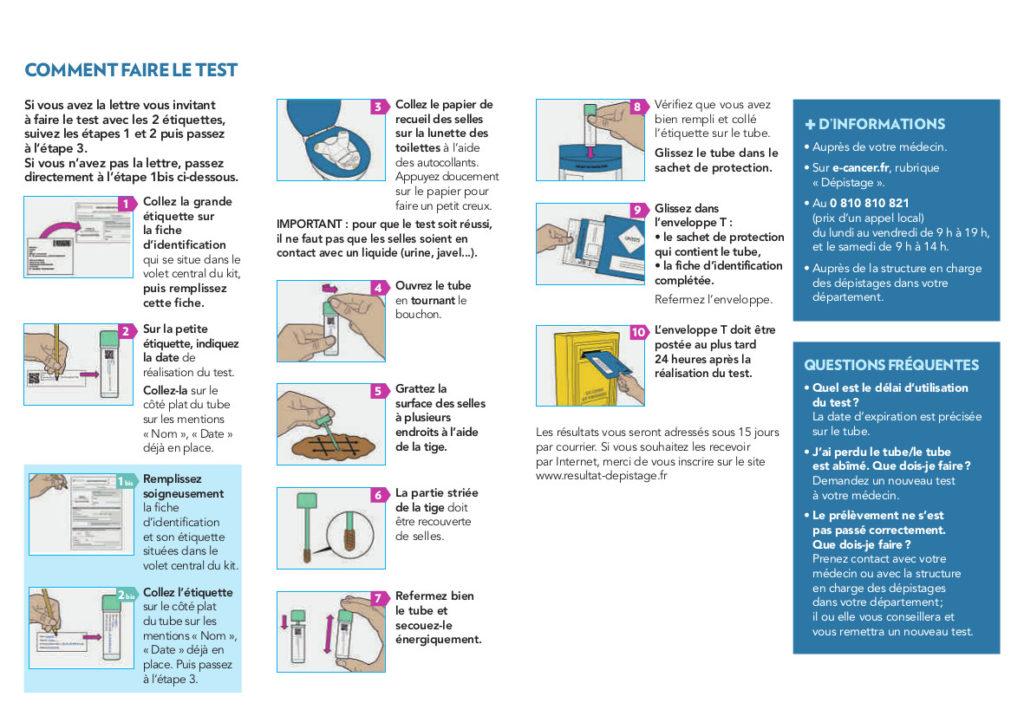 Dépistage du cancer colorectal : mode d'emploi du test