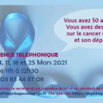 PERMANENCE TELEPHONIQUE – MARS 2021